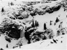 B/N cascate di ghiaccio sulle Dolomiti