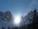 Il sole sui Monfalconi di Forni