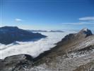 mare di nuvole sulla val raccolana